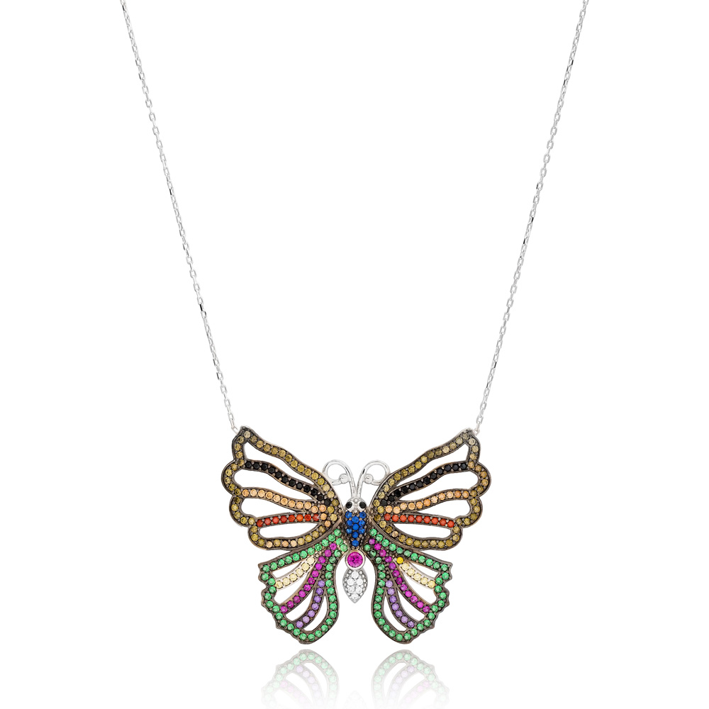 Turkey In Butterfly Charm 925 Silver Pendant Wholesale Sterling Silver Jewelry