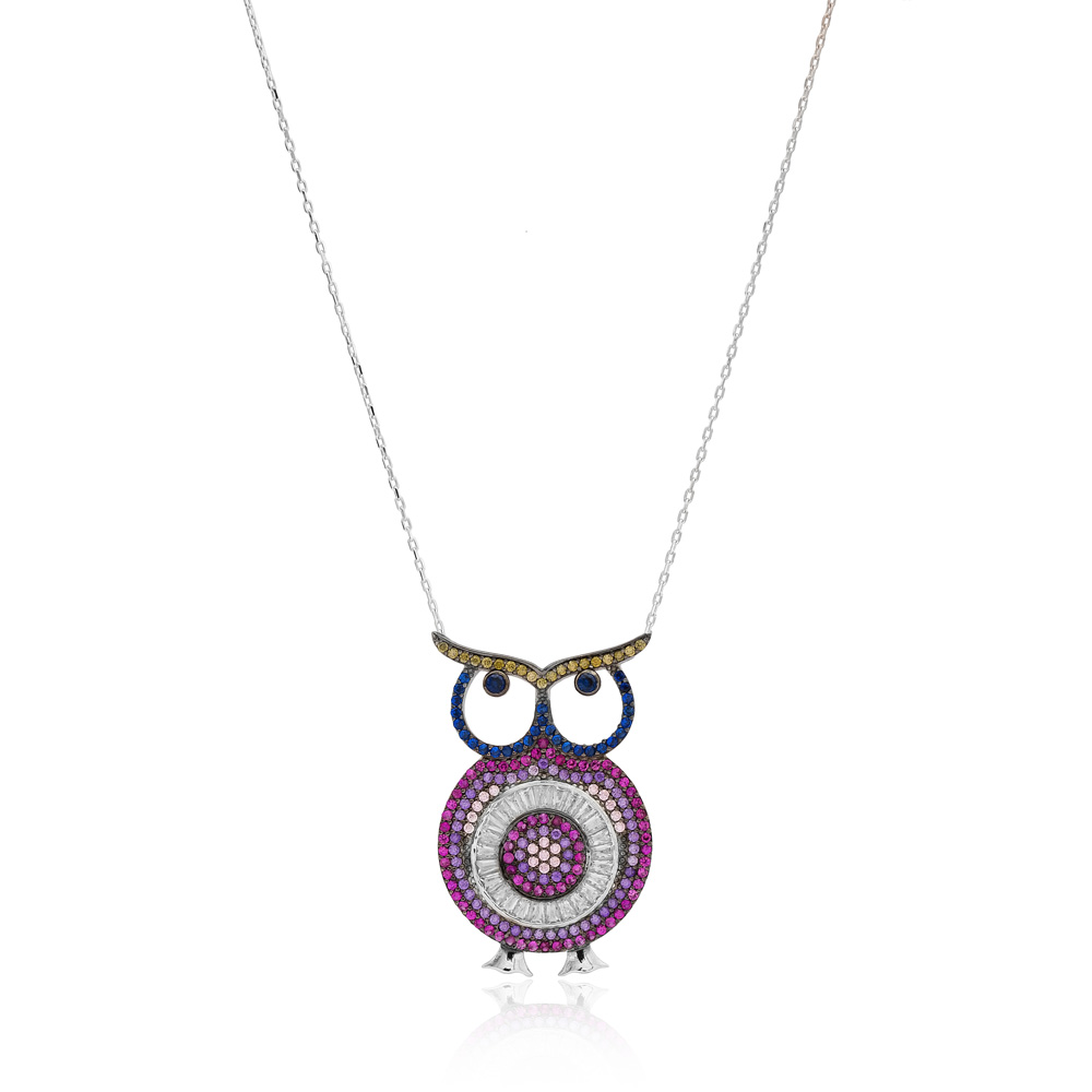 Turkey In Owl Charm 925 Silver Pendant Wholesale Sterling Silver Jewelry