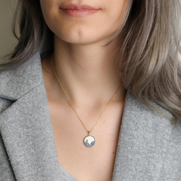 Enamel Round Design Pendant Wholesale 925 Sterling Silver Jewelry