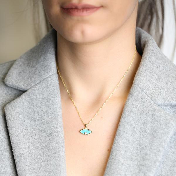 Enamel Eye Design Pendant Wholesale 925 Sterling Silver Jewelry