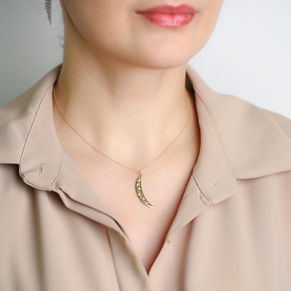 Moon Pendant Wholesale Handmade Turkish 925 Silver Sterling Jewelry