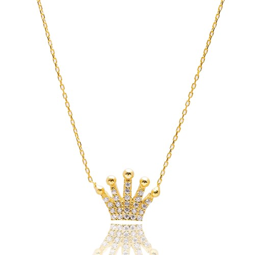 Turkish Wholesale Handcrafted Silver Crown Pendant