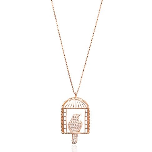 Turkish Wholesale Sterling Silver Bird Cage Pendant