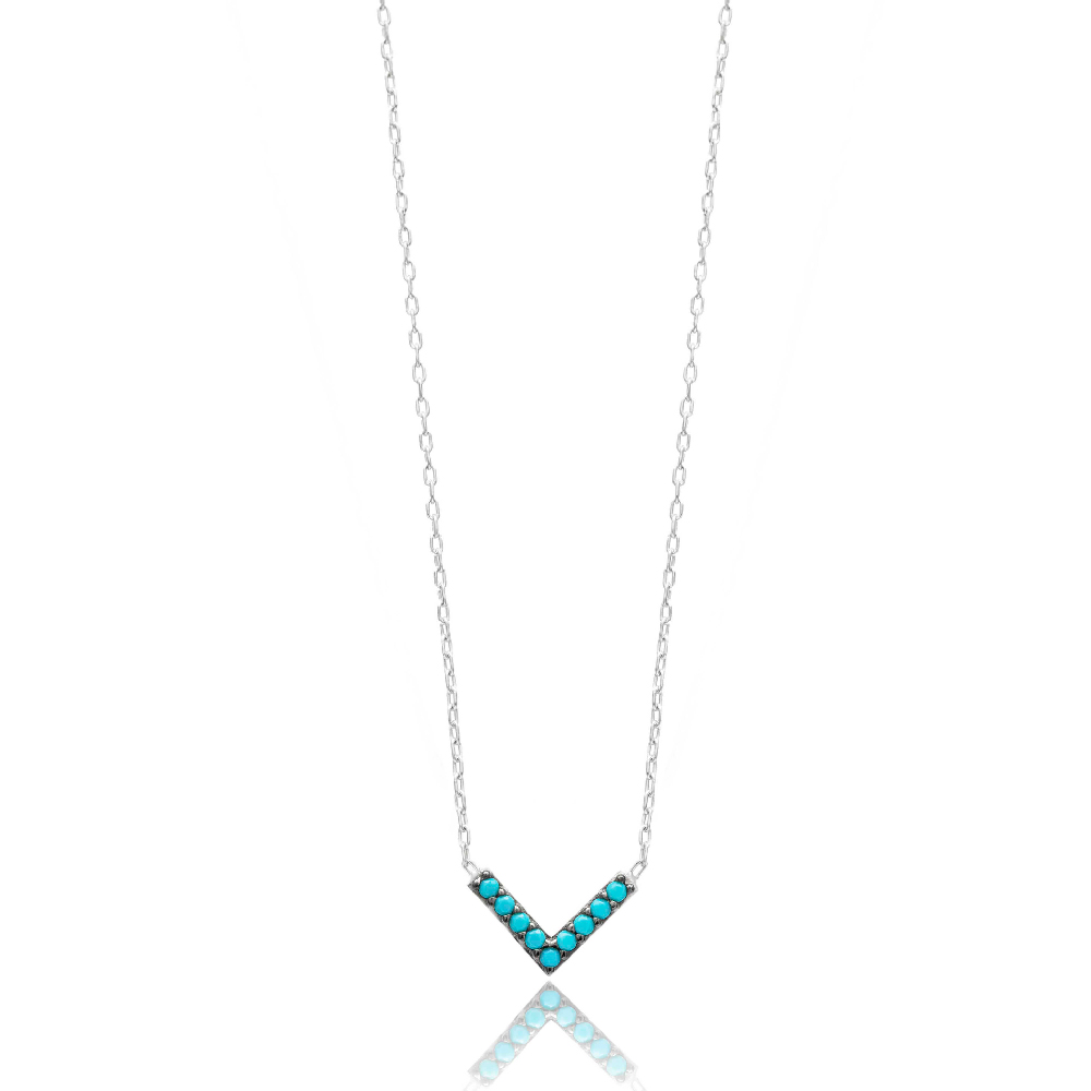 Delicate V Pendant Turkish Wholesale Sterling Silver Jewelry