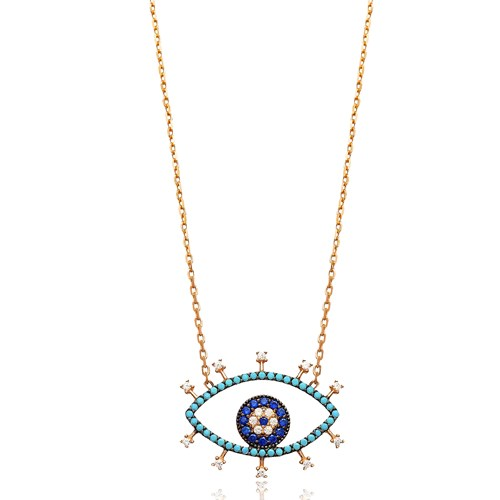 Silver Eye Pendant In Turkish Wholesale 925 Sterling Silver