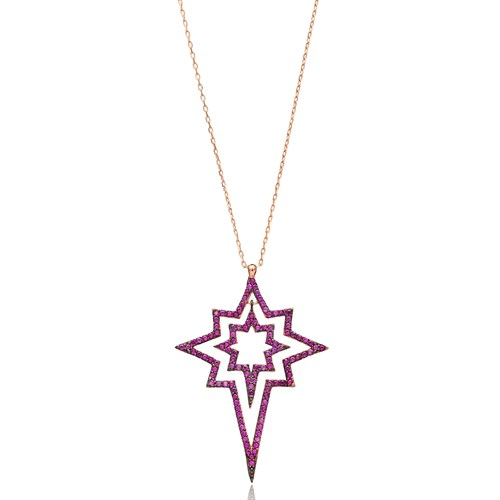 Pole Star Pendant In Turkish Wholesale 925 Sterling Silver