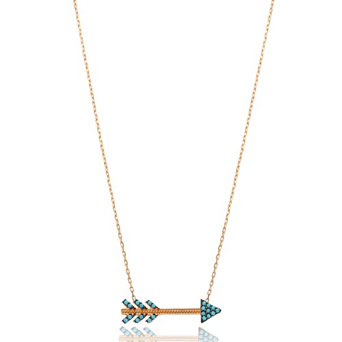 Nano Turquoise Arrow Pendant In Turkish Wholesale 925 Sterling Silver