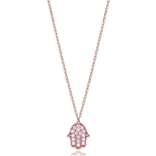 Minimal Hamsa Pendant In Turkish Wholesale 925 Sterling Silver