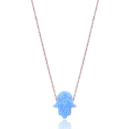 Opal Hamsa Pendant In Turkish Wholesale 925 Sterling Silver