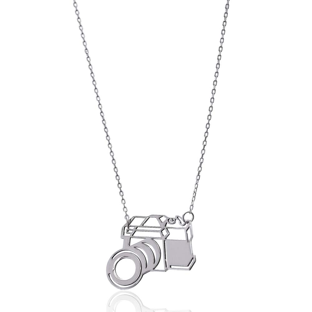 Silver Camera Pendant Turkish Wholesale Handcrafted Sterling Silver