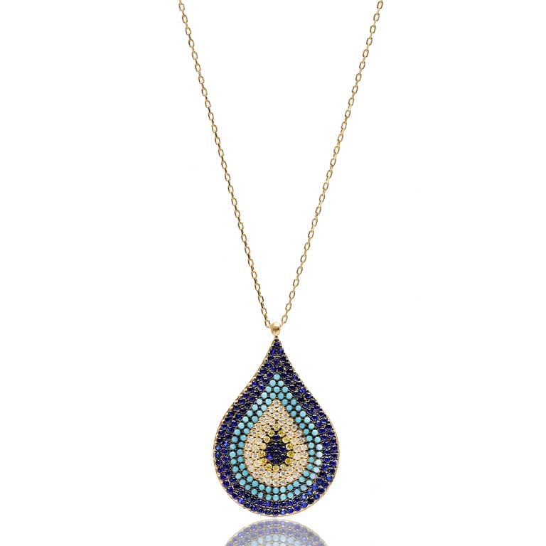 Turkish Wholesale Handmade  925  Sterling Silver Evil Eye Pendant