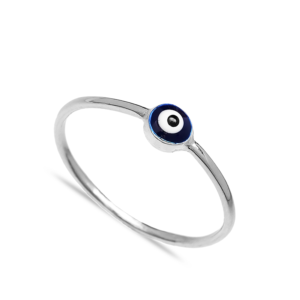 Evil Eye Design Wholesale Handcrafted Silver Ring