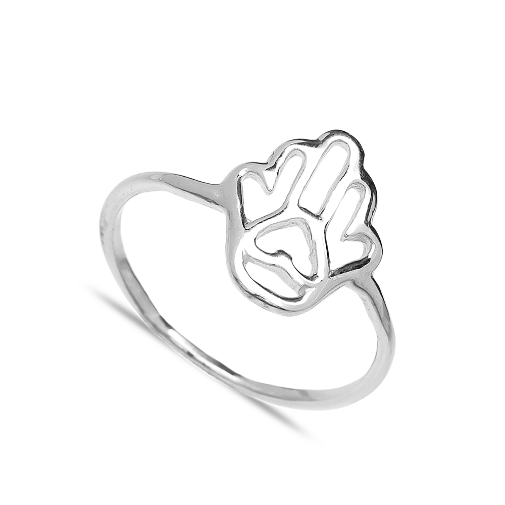 Hamsa Design Wholesale Handcrafted Silver Ring