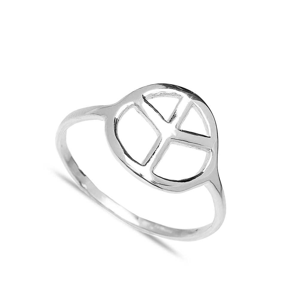 Peace Design Wholesale Handcrafted Silver Ring