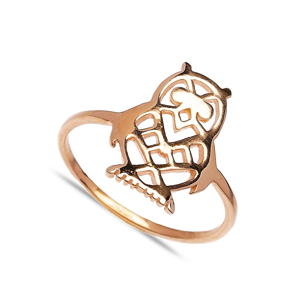 Owl DesignTurkish Wholesale Handcrafted Silver Ring