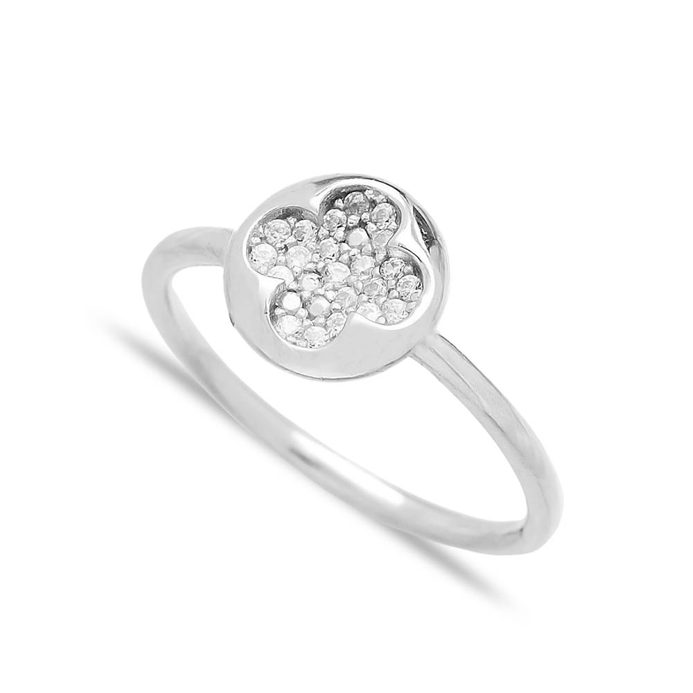 Minimalist Clover Design Wholesale Handcrafted 925 Sterling Silver Jewelry Ring