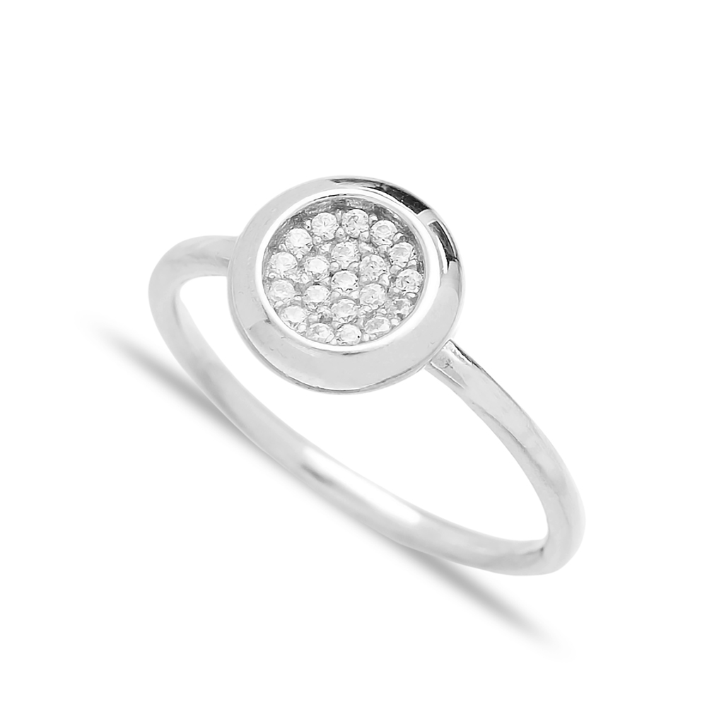 Minimalist Round Design Wholesale Handcrafted 925 Sterling Silver Jewelry Ring