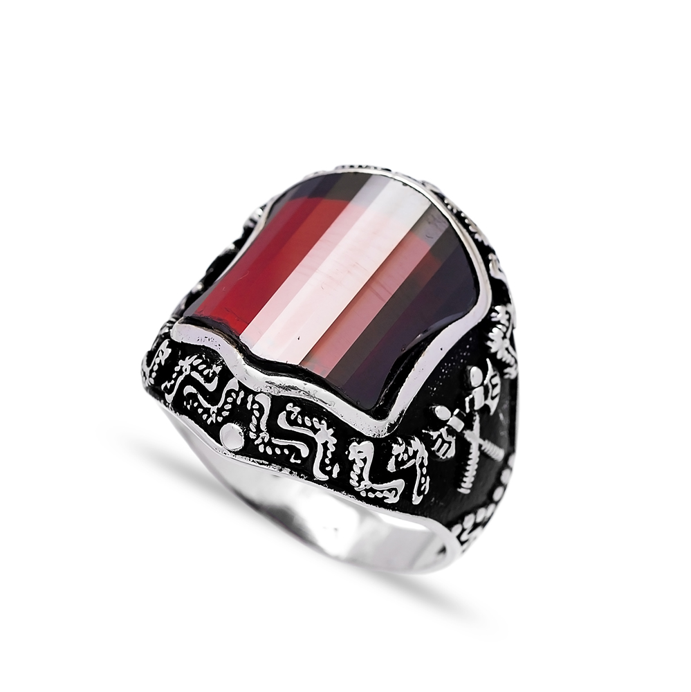 Turkish Design Men Ring Wholesale Handmade 925 Sterling Silver Men Ring