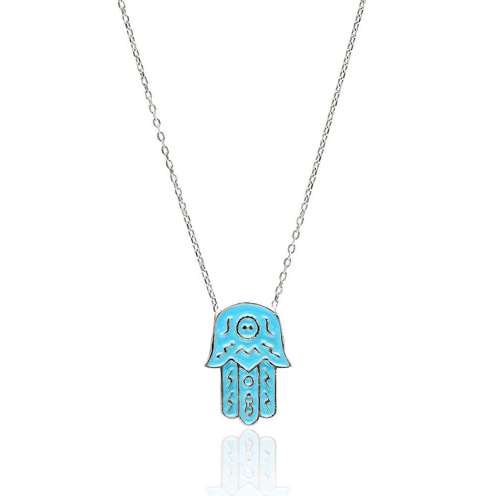 Turkish Wholesale Handcrafted Silver Hamsa Pendant