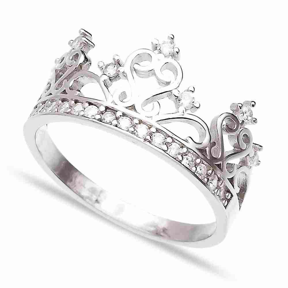 Turkish Wholesale Handcrafted Crown Silver Ring