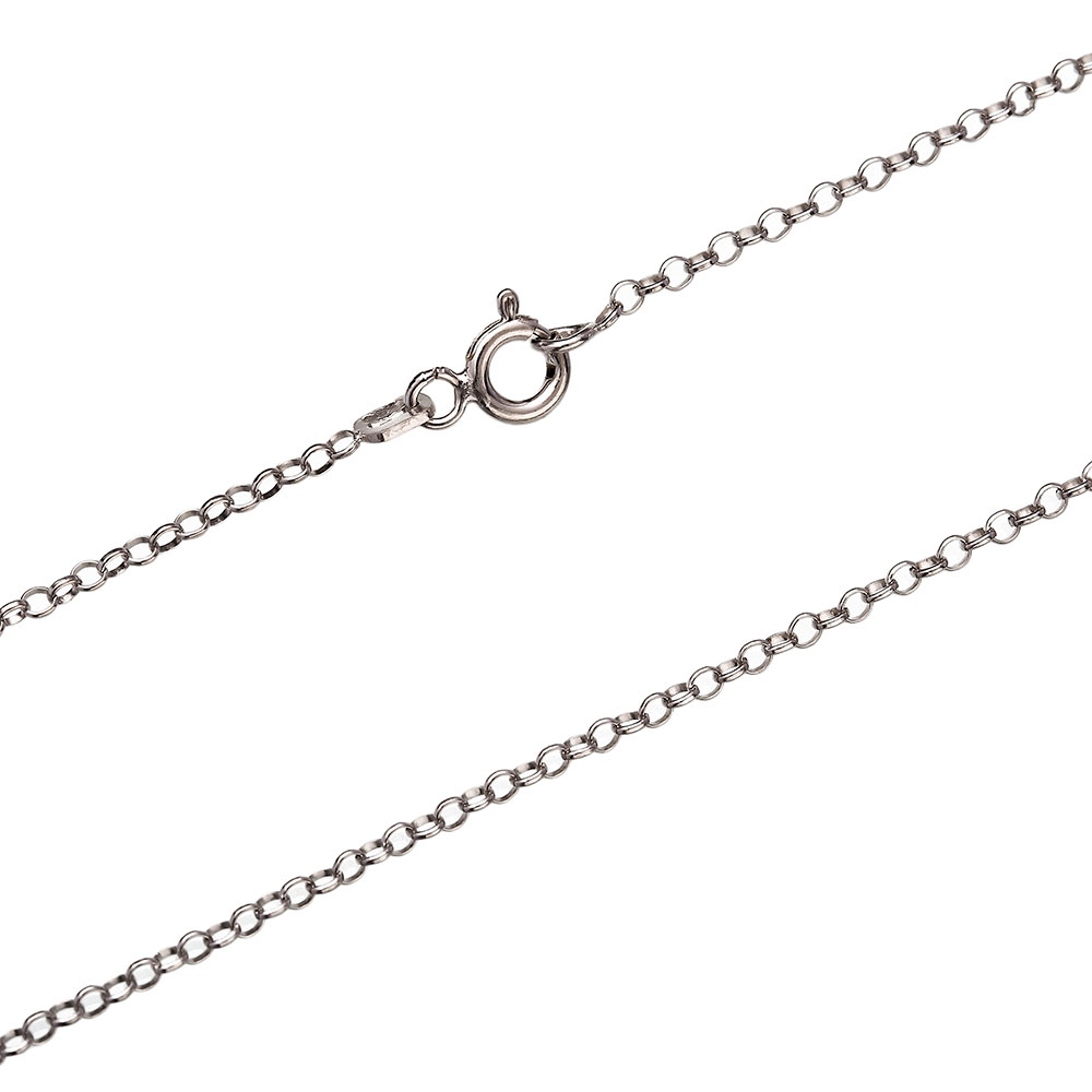 Rolo Rhodium Plated Chain Silver Necklace