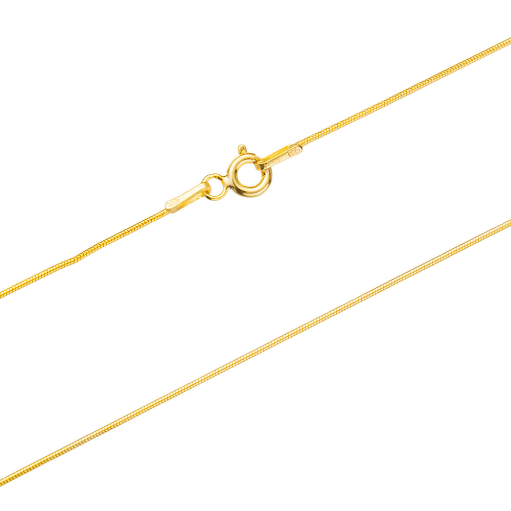 Snake  Gold Plated Chain Silver Necklace