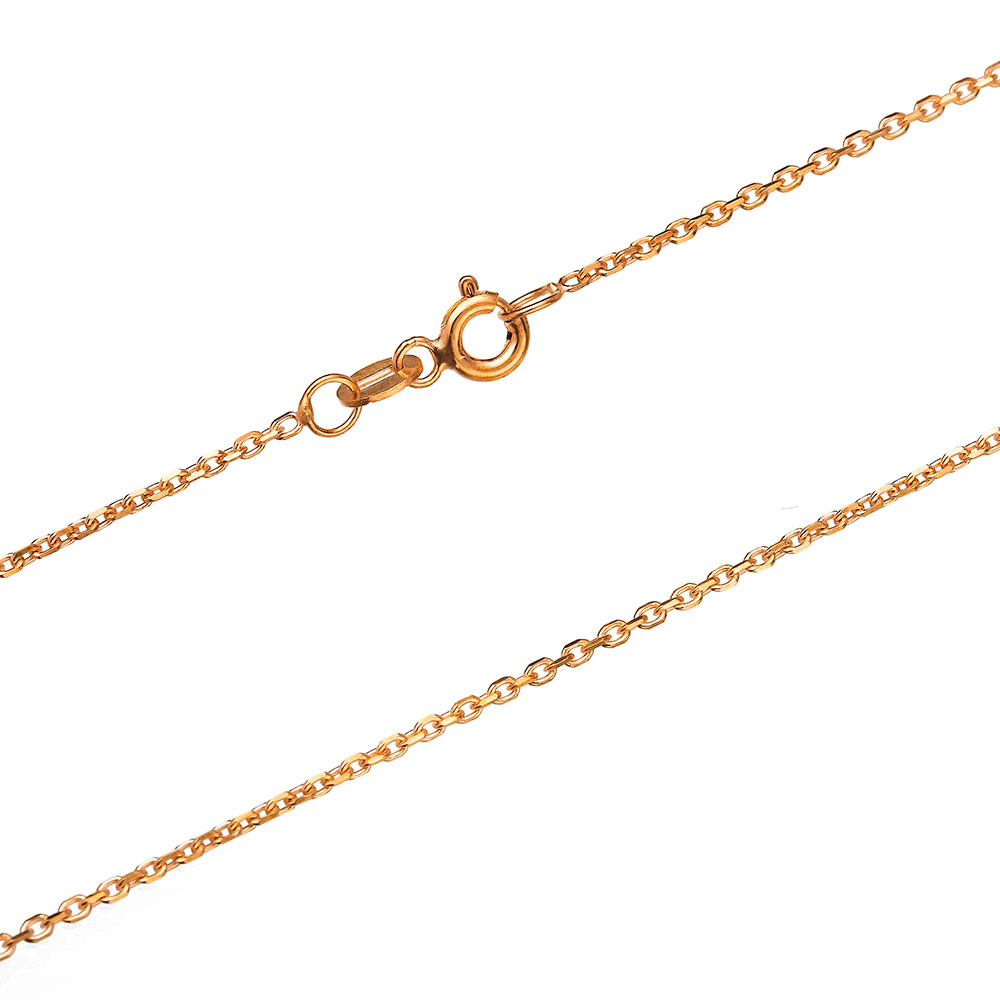 40 Micron Forzentina Rosa Gold Plated Chain Silver Necklace