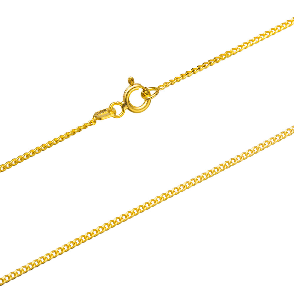 Gurmet Gold Plated Chain Silver Necklace