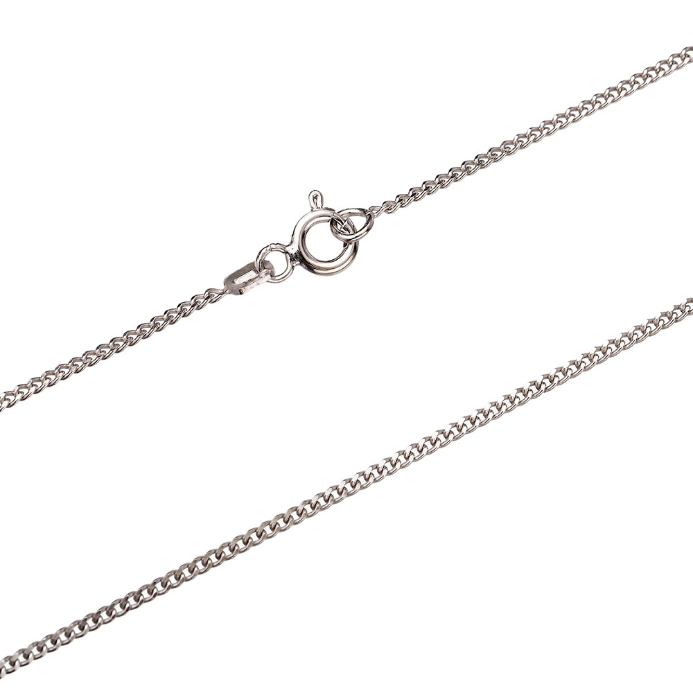 Gurmet Rhodium Plated Chain Silver Necklace