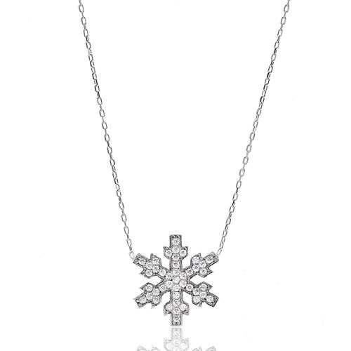 Snowflake Turkish Wholesale Handcrafted 925 Sterling Silver Pendant